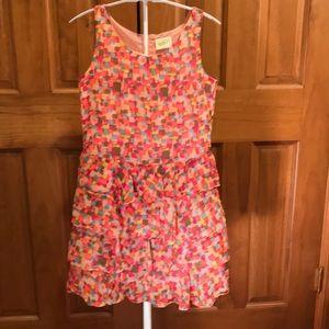 Crazy 8 size 12 Girls Watercolor Tier Dress